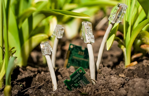 computer cords coming from the ground_privacy compliance